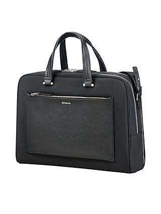 "Samsonite W Zalia Bailhandle 15.6"" Laptop Briefcase, Black"