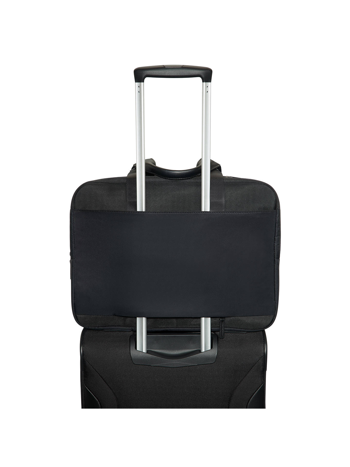BuySamsonite Openroad Bailhandle Expandable 15.6inch Laptop Briefcase, Jet Black Online at johnlewis.com