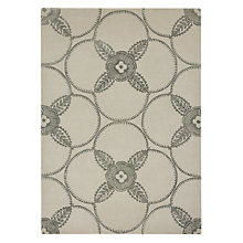 Buy Genevieve Bennett for John Lewis Deco Flower Rug, Cream Online at johnlewis.com