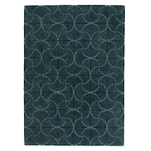 Buy Genevieve Bennett for John Lewis Deco Palm Rug, Blue Online at johnlewis.com