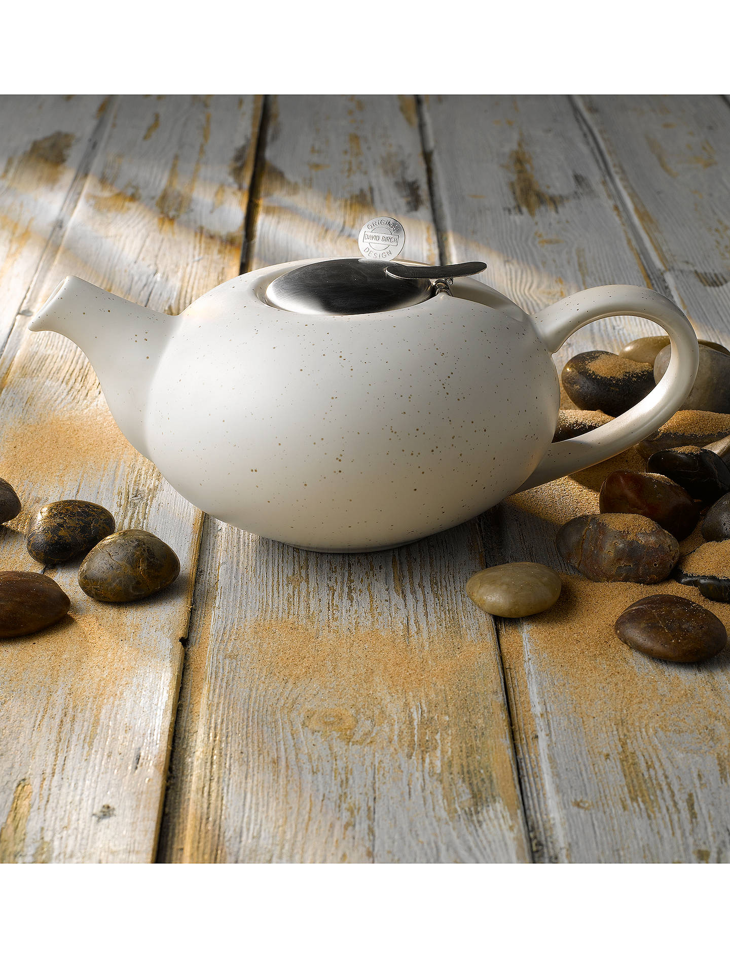 BuyLondon Pottery Speckled Pebble 2 Cup Teapot, White Online at johnlewis.com