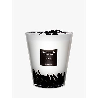 Baobab Black Feathers Candle, 2.5kg