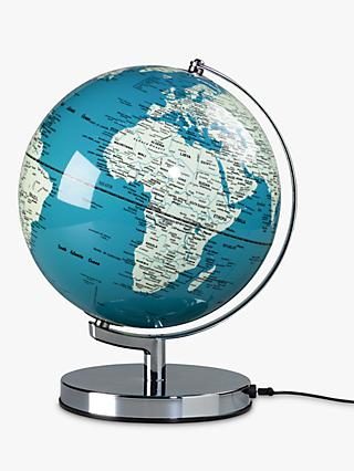 "Wild & Wolf Light Up 10"" Globe, French Blue"