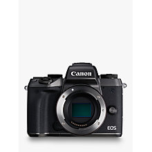 "Buy Canon EOS M5 Compact System Camera, HD 1080p, 24.2MP, Wi-Fi, Bluetooth, NFC, 3.2"" LCD Tiltable Touch Screen, Body Only Online at johnlewis.com"