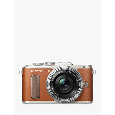 Olympus PEN E-PL8 Compact System Camera with 14-42mm EZ Lens, HD 1080p, 16.1MP, 3 LCD Touch Screen, Tan