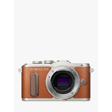 "Buy Olympus PEN E-PL8 Compact System Camera with 14-42mm EZ Lens, HD 1080p, 16.1MP, 3"" LCD Touch Screen, Tan Online at johnlewis.com"