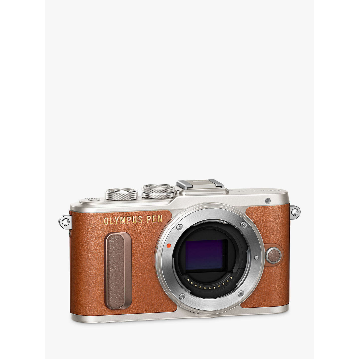 "BuyOlympus PEN E-PL8 Compact System Camera with 14-42mm EZ Lens, HD 1080p, 16.1MP, 3"" LCD Touch Screen, Tan Online at johnlewis.com"