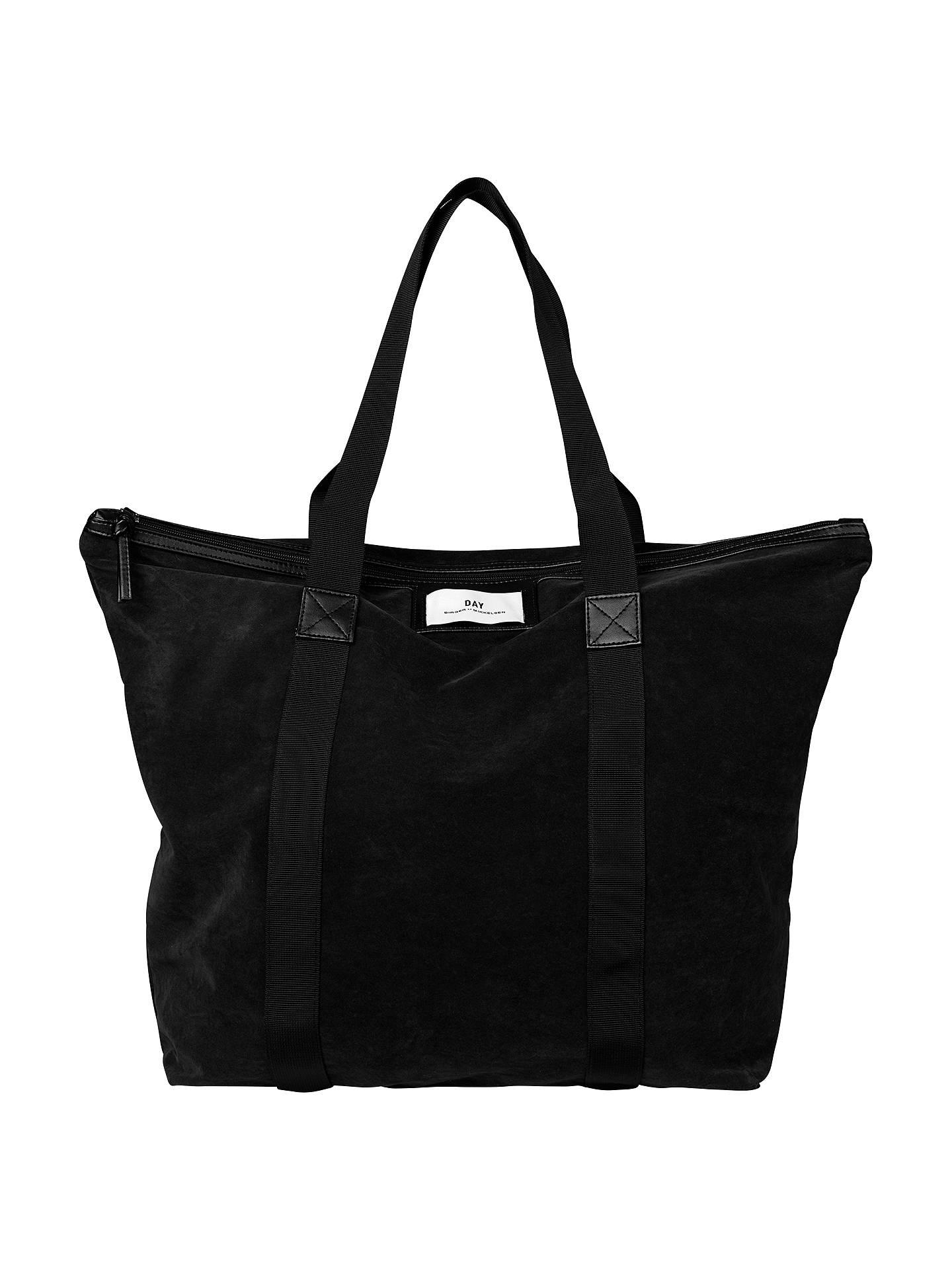 cb73e383466e Buy Et DAY Birger et Mikkelsen Gweneth Velvet Tote Bag, Black Online at  johnlewis.
