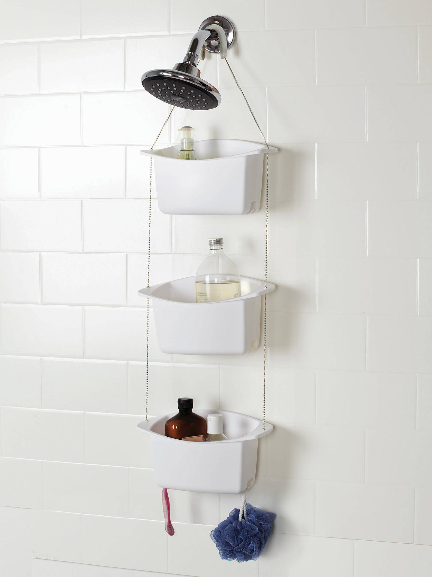 Oasis Bathroom Fittings: Umbra Oasis 3 Tier Shower Caddy Basket At John Lewis