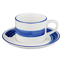 Buy John Lewis Coastal Accent Cup and Saucer Set Online at johnlewis.com