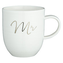 Buy Croft Collection Luna 'Mr' Mug, White, 400ml Online at johnlewis.com