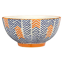 Buy Pols Potten Dakara Chevron 14cm Bowl Online at johnlewis.com