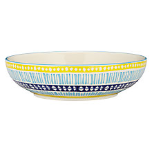 Buy Pols Potten Dakara Festini Serving Bowl, Blue / Orange Online at johnlewis.com