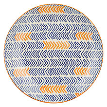 Buy Pols Potten Dakara Chevron 20cm Plate, Blue / Orange Online at johnlewis.com
