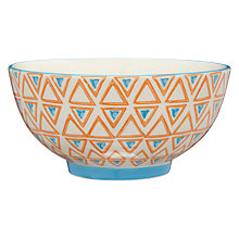 Buy Pols Potten Dakara Triangles 14cm Bowl, Orange Online at johnlewis.com