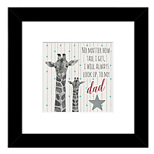 Buy East Of India - Giraffe Look Up To Dad Framed Print, 27 x 27cm Online at johnlewis.com