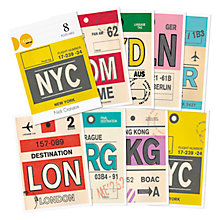 Buy Nick Cranston - Luggage Label Postcards, Pack of 8 Online at johnlewis.com