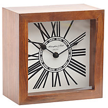 Buy Libra Wood Mini Mortimer Clock, Brown Online at johnlewis.com