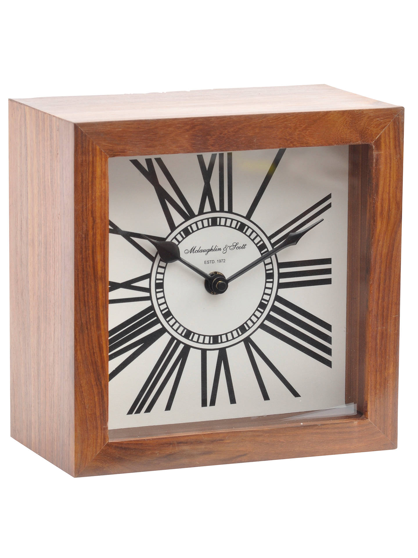 Libra Wood Mini Mortimer Clock Brown Online At Johnlewis