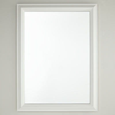 Croft Collection Rectangle Mirror, White, 60 x 80cm