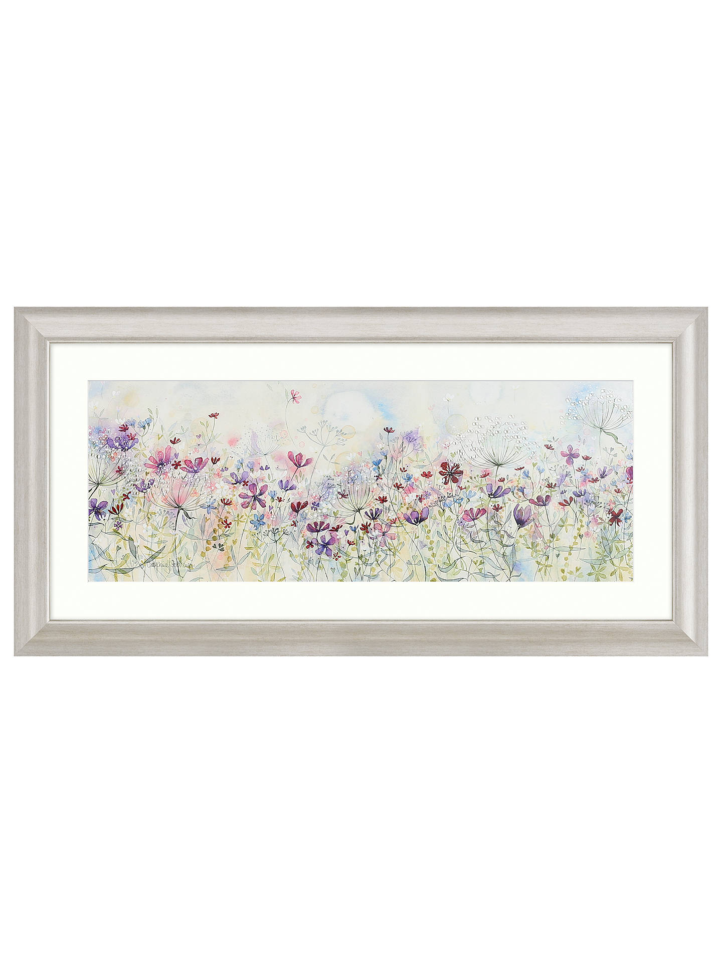 Buy Catherine Stephenson - Meadow Of Wild Flowers Embellished Framed Print, 110 x 55cm Online ...