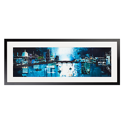 Ben Phillips – Thames Under Moonlight Framed Print, 100 x 40cm