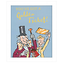 Buy John Lewis - You've Got A Golden Ticket Framed Print, 27 x 33cm Online at johnlewis.com