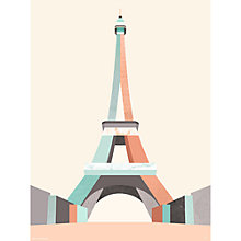 Buy Michelle Collins Eiffel Tower Unframed Print, 40 x 30cm Online at johnlewis.com