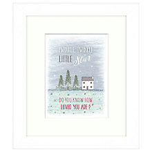 Buy East Of India - Twinkle Twinkle Framed Print, 23 x 27cm Online at johnlewis.com