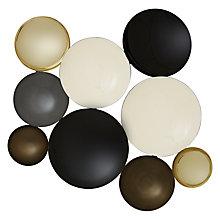 Buy John Lewis Circles Wall Art Sculpture, Black/Gold Online at johnlewis.com