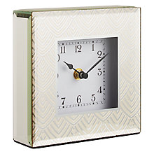 Buy John Lewis Jazz Glass Square Mantel Clock, Gold Online at johnlewis.com