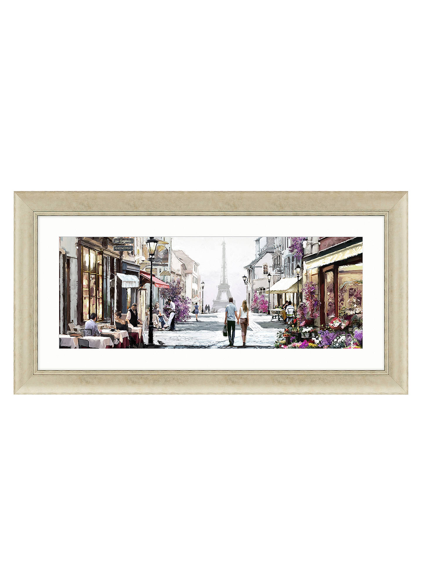 BuyRichard Macneil - Paris Cafe Framed Print,112 x 57cm Online at johnlewis.com