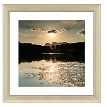 Buy Mike Shepherd - Golden Lake Framed Print, 92 x 92cm Online at johnlewis.com