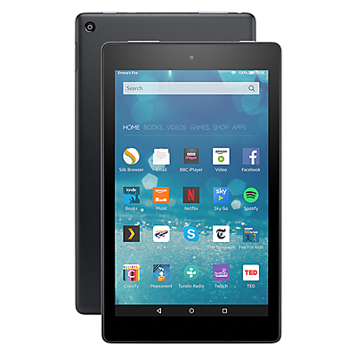 New Amazon Fire HD 8 Tablet, Quad-Core, Fire OS, Wi-Fi, 16GB, 8 Screen