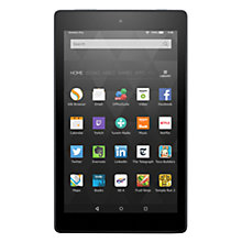 "Buy New Amazon Fire HD 8 Tablet, Quad-Core, Fire OS, Wi-Fi, 32GB, 8"" Screen, Black Online at johnlewis.com"