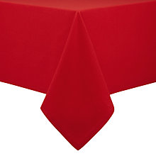 Buy John Lewis Kernel Tablecloth, Red Online at johnlewis.com