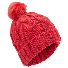 Buy Miss Selfridge Pom Beanie, Coral Online at johnlewis.com
