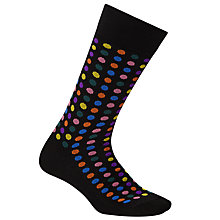 Buy Paul Smith Confetti Dot Socks, One Size, Black/Multi Online at johnlewis.com