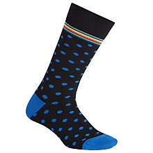 Buy Paul Smith Signature Polka Dot Socks, One Size, Black Online at johnlewis.com