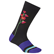 Buy Paul Smith Floral Socks, One Size, Black Online at johnlewis.com