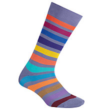 Buy Paul Smith Bright Block Stripe Socks, One Size, Multi Online at johnlewis.com