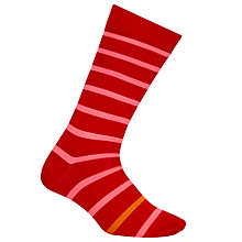Buy Paul Smith Simple Neon Stripe Socks, One Size, Red Online at johnlewis.com