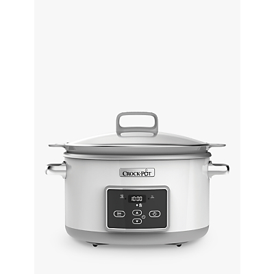 Crock-Pot CSC026 DuraCeramic™ Sauté 5L Slow Cooker, White Review thumbnail
