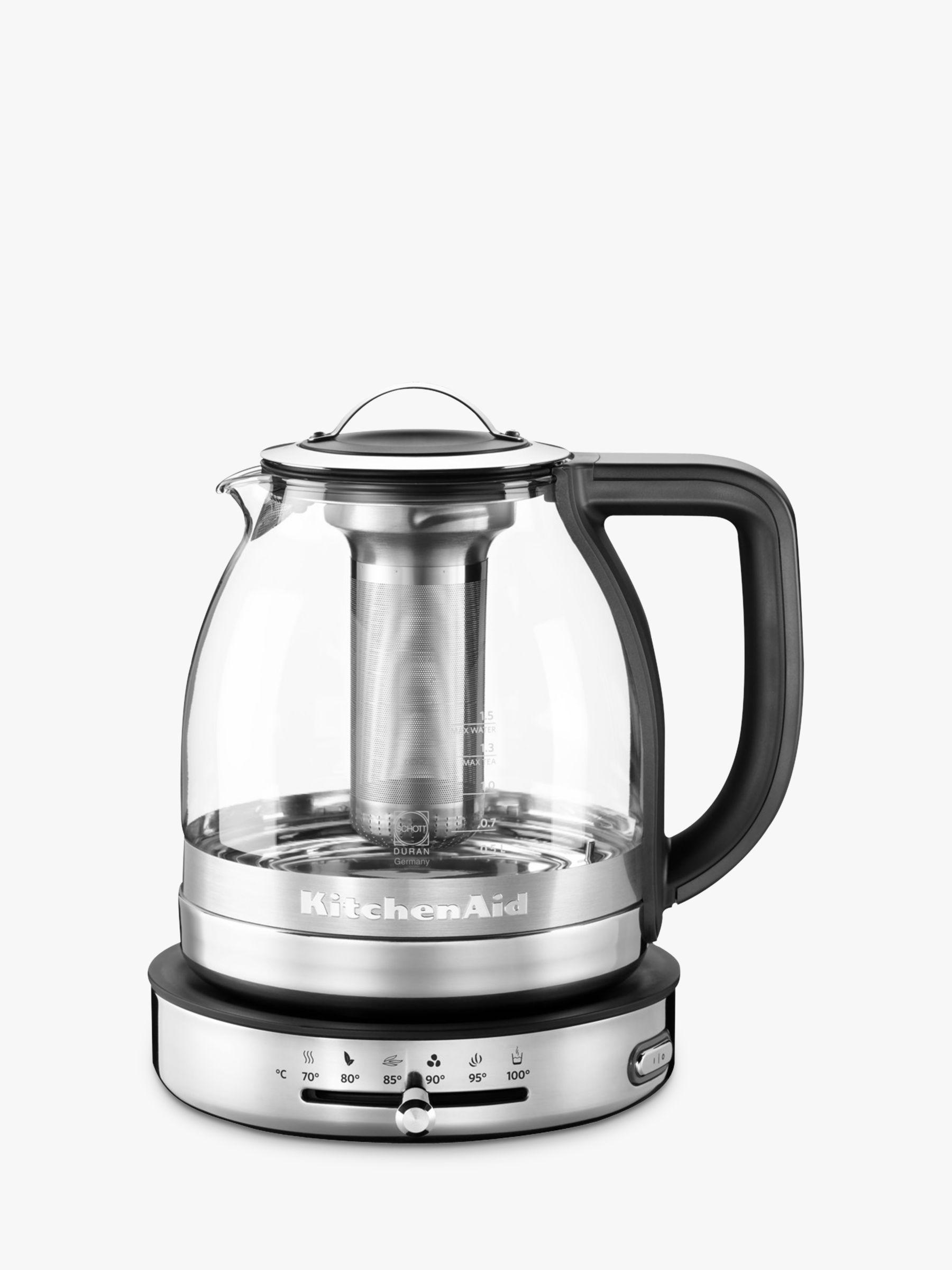 KitchenAid 5KEK1322BSS 1.5L Glass Tea Kettle, Stainless