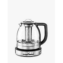 Buy KitchenAid 5KEK1322BSS 1.5L Glass Tea Kettle, Stainless Steel Online at johnlewis.com