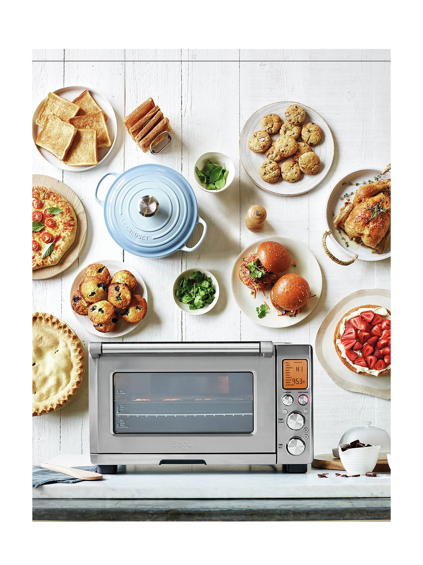 Sage Bov820bss The Smart Oven Pro Silver At John Lewis