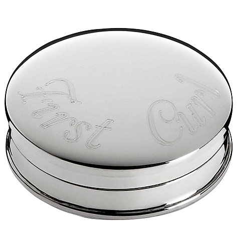 Buy Carrs First Curl Box, Sterling Silver Online at johnlewis.com