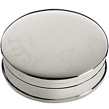 Buy Carrs First Tooth Box, Sterling Silver Online at johnlewis.com