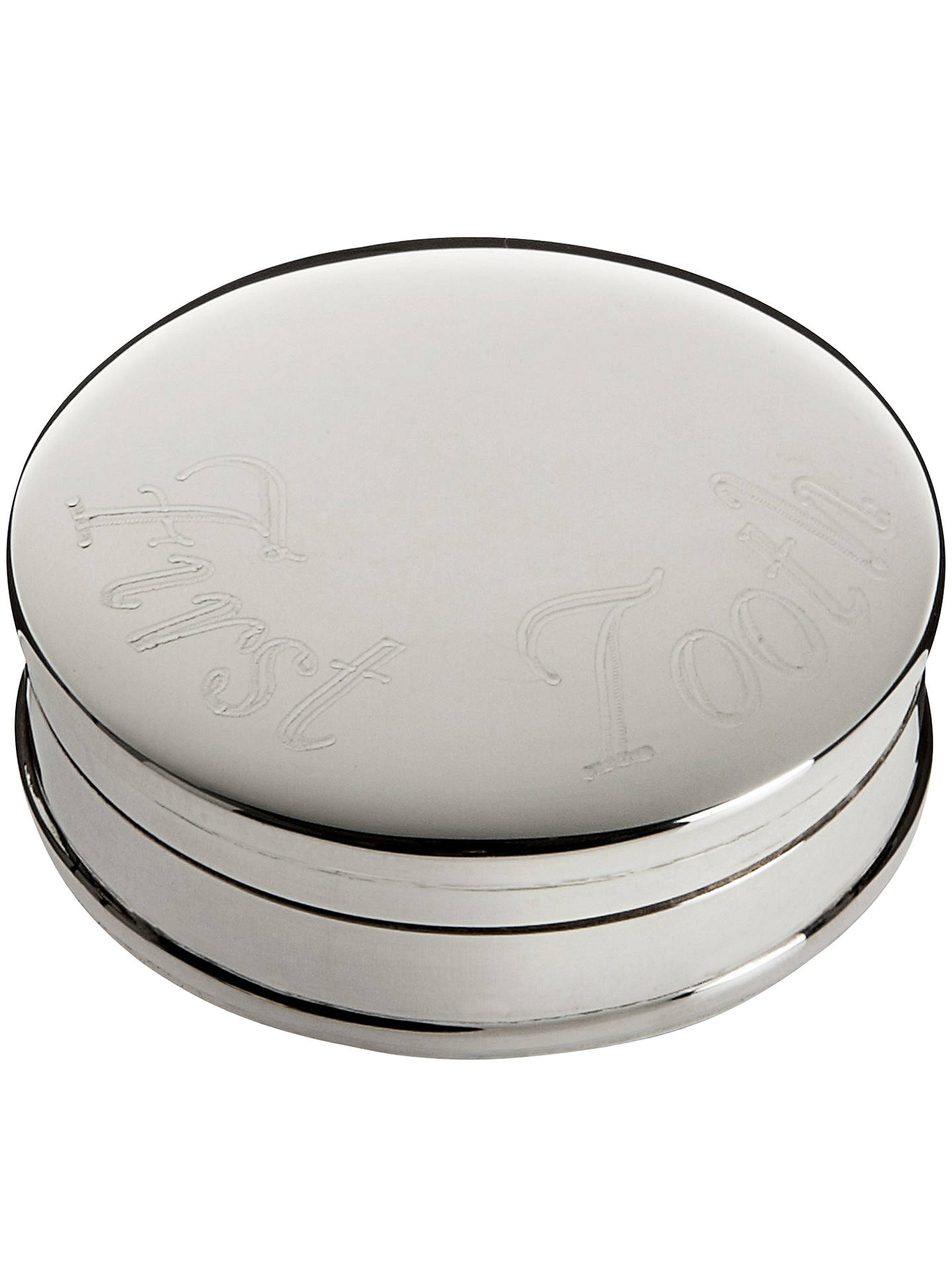 BuyCarrs First Tooth Box, Sterling Silver Online at johnlewis.com