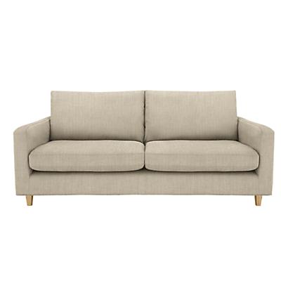 John Lewis Bailey Large 3 Seater Sofa, Light Leg